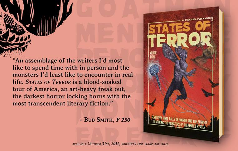 States of Terror Vol.3 - Weekly Blurb Countdown #2: Bud Smith!