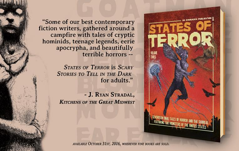 States of Terror Vol.3 - Weekly Blurb Countdown #4: J Ryan Stradal!