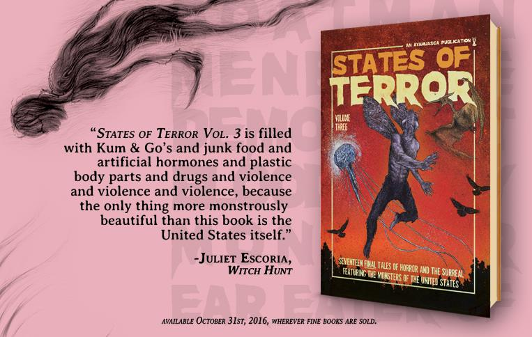 States of Terror Vol.3 - Weekly Blurb Countdown #5: Juliet Escoria!