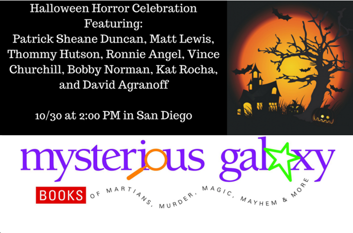 Halloween Event at Mysterious Galaxy 10/30/16