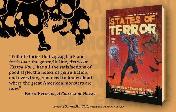 States of Terror Vol.3 - Weekly Blurb Countdown #1: Brian Evenson!