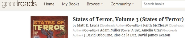 Add States of Terror Vol.3 to your Goodreads List!