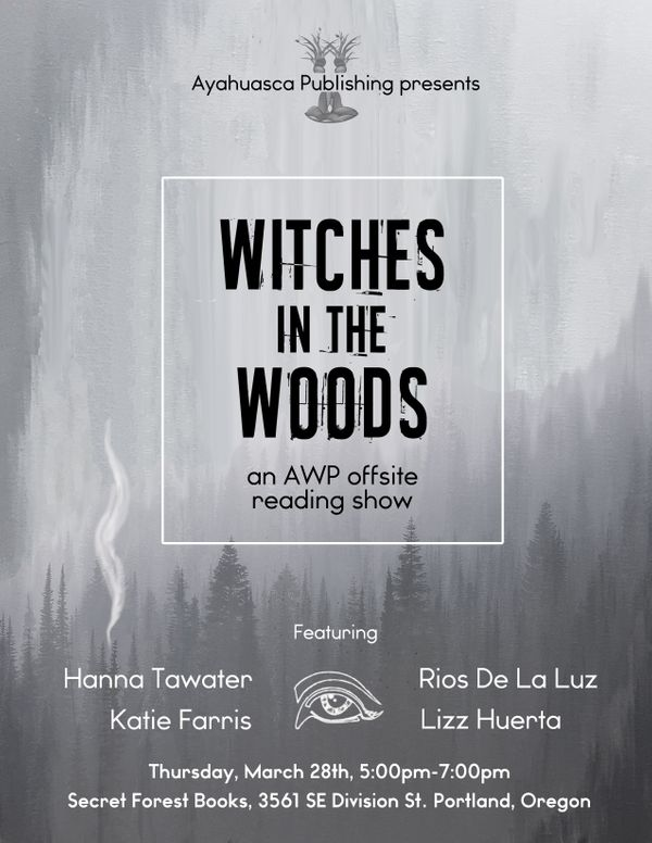 New Poster for Witches in the Woods at AWP19